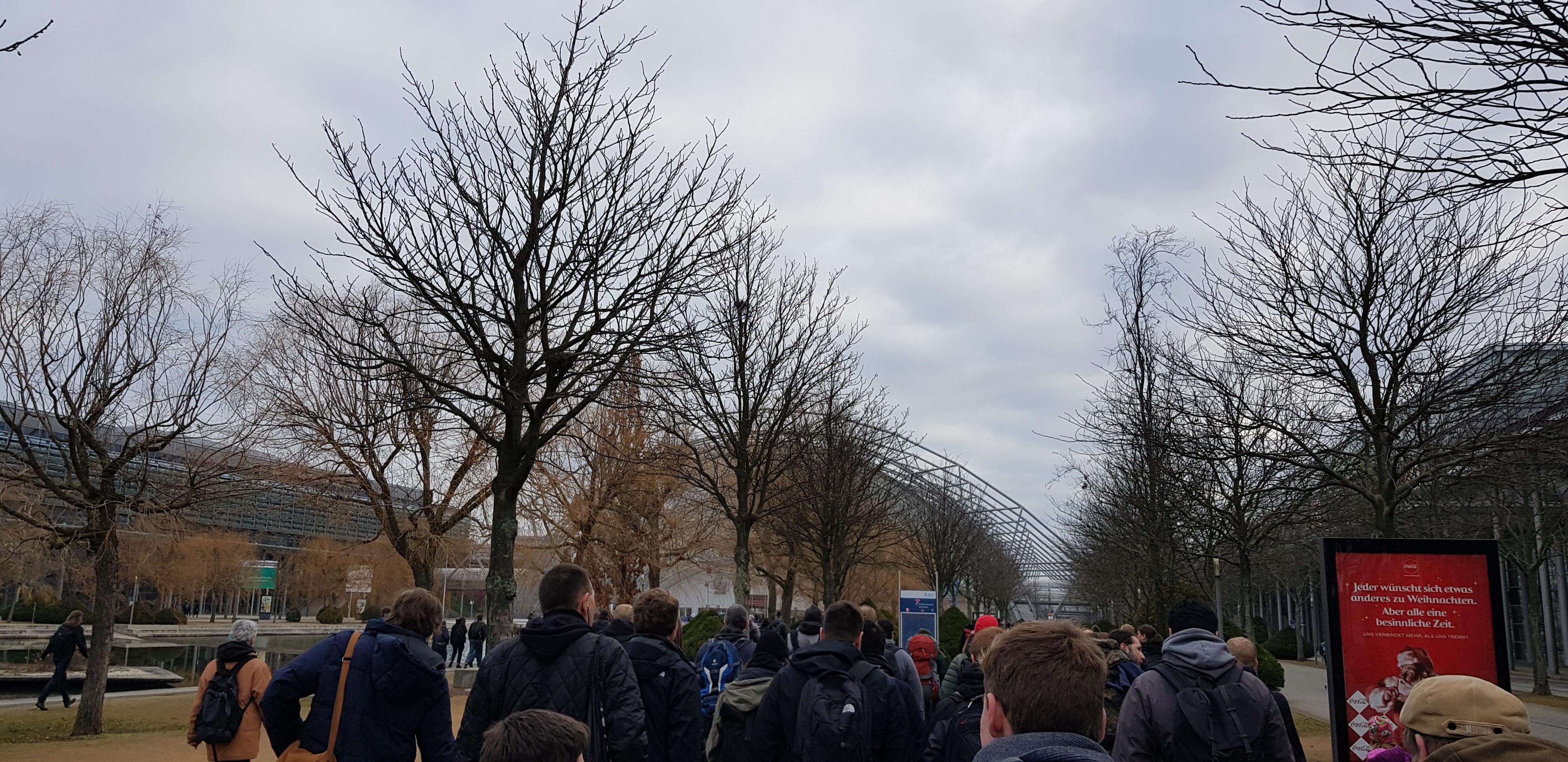 Ankunft an der Messe Leipzig