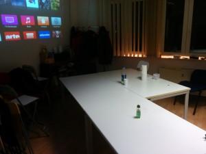 Versammlungsraum - Tische